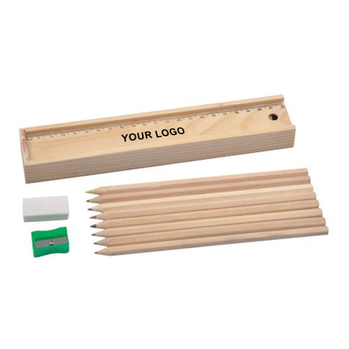 木盒文具套裝