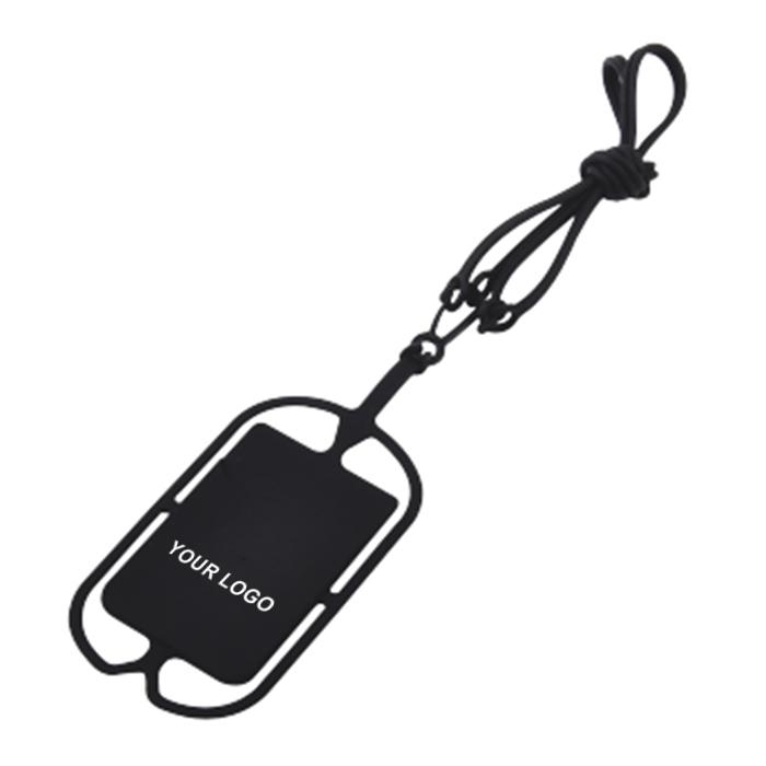 矽膠手機掛繩卡套