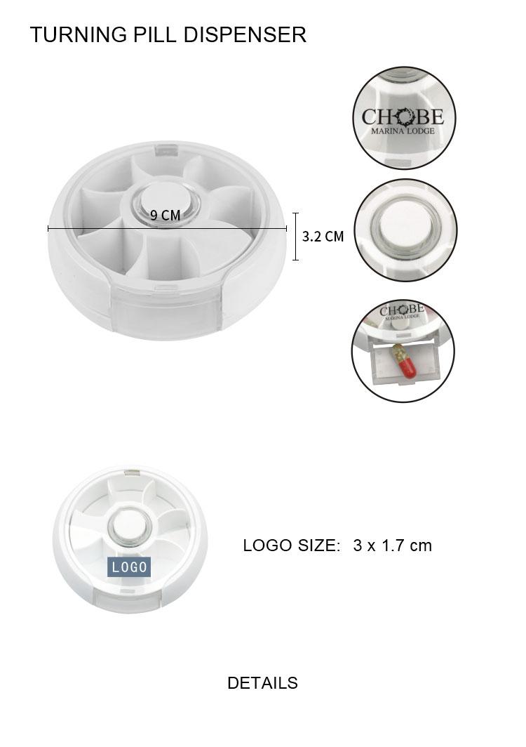 圓形旋轉藥盒