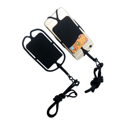 Silicone cell phone tether holster