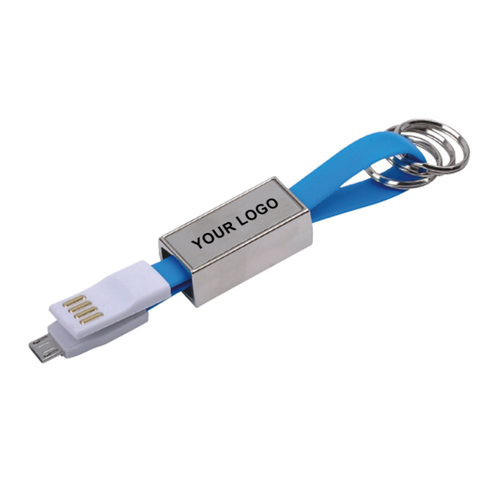 Data Transfer Cable with Key Ring