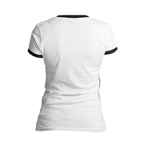 Women 's Cotton Black Round Neck T - shirt
