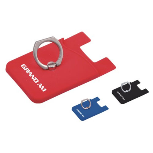 Silicone Phone Wallet with Ring
