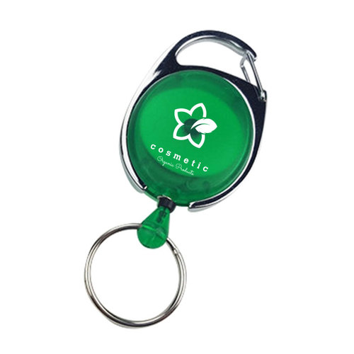 Oval Retractable Badge Holder