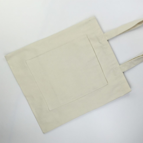 Cotton Tote Bag with Zippered Pouch