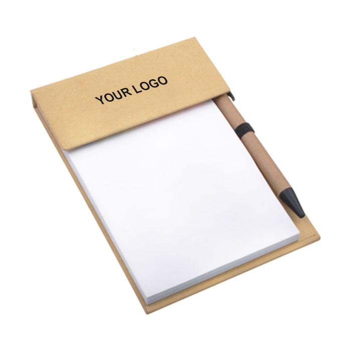Desk Memo Pad with Pen